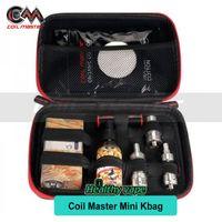Wholesale E Cigarettes Carring Cases - Original Coil Master Mini Kbag E Cigarette Smaller Travel Case for Carring Electronic Cigarette Vape Products, atomizers, mod, Kit, rdas