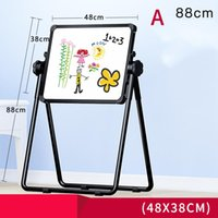 Wholesale Writing Magnetic Boards Children - Child Double Sides rotation Magnetic Blackboard Whiteboard  Kids Big Writing And Drawing Board Toys With Eraser Chalk Marker