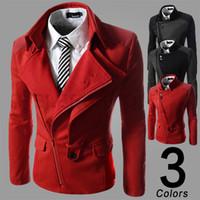 Wholesale Fine Winter Jackets - Hot Burst models fine men jacket autumn and winter new British male fashion casual slim jacket zipper jacket Free shipping W33