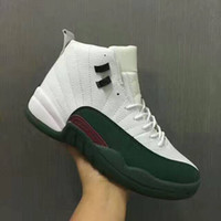 Wholesale Sapphire Blue Ivory - 2016 air retro 12 man basketball shoes sapphire white flu game green gym cherry red GS Barons black nylon french blue TAXI sneakers
