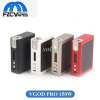 Wholesale Fiber Best Boxes - Authentic Vgod PRO 150W Box Mod Best E Cigarette Vape Mod Carbon Fiber Temperature Control 100% Original