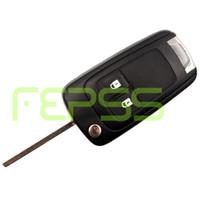 chip id46 433 mhz al por mayor-Reemplazo Flip plegable remoto llave Keyless Entry 2 botones para Opel Vauxhall Astra 433MHZ ID46 Chip HU100 hoja sin cortar 2009-2014