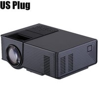 Wholesale Hdmi For Analog Tv - Wholesale- WooYi VS314 Projector 1500 Lumens Support 1920x1080P Analog TV LED Projector MINI Projector for Home Cinema Digital TV UC40 UC46