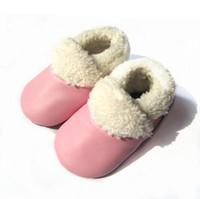 botas de mocasín de invierno al por mayor-suela suave colorido mocasín de invierno botas de bebé bebé mocasín
