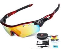 Wholesale sunglasses color order resale online - mens Sunglasses lens Bicycle Cycling Eyewear Glasses Sport UV400 Sunglasses male Goggles Color can mix order