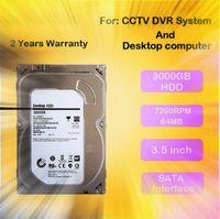 bilgisayarın sabit disk sürücüsü toptan satış-LLLOFAM 3000 GB 3.5 inç SATA izleme Sabit Disk 3 TB Sabit Disk için 64 MB 7200 rpm AHD DVR NVR cctv sistemi ve masaüstü bilgisayar kullanımı