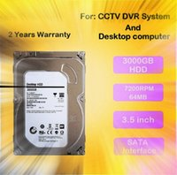 Wholesale Used Cctv Dvr System - LLLOFAM 3000GB 3.5 inch SATA monitoring Hard Drive 3TB Hard Disk 64MB 7200rpm for AHD DVR NVR cctv system and desktop computer use