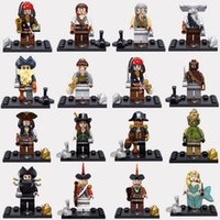perle achat en gros de-Pirates des Caraïbes Capitaine Jack Sparrow Elizabeth Mermaid mini poupées Black lepin Pearl Blocks Models Building Toys
