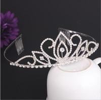 Wholesale diamonds hair comb - Wedding Bridal Tiara Crown Crystal Rhinestone Party Diadem Jewelry Hair Comb Crowns Hair wear Bridesmaid Corona free ship