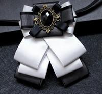 Wholesale Ties For Best Men - the groom's best man wedding emcee tie neckties man in British business for multilayer tie style bow tie