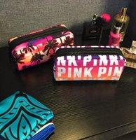 Wholesale White Makeup Storage Boxes - Pink Cosmetic makeup Storage PINK Tote Bags Makeup Bag Travel Cosmetic Bag Box Makeup Case Pouch Toiletry Organizer KKA3165