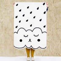 Wholesale Quit Cover - Black and White Rain Blanket Baby Bedspread Bedding Quilts Kids 100% Cotton Newborn Crib Quits Cartoon Comforter Cover Kids Floor Play Mat