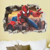 Venda quente New Spider Man Adesivos de parede Removable Home Decor Decals Sticker Wallpaper Baby Rooms Decoração