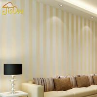 Wholesale White Glitter Wallpaper - Modern Style Glitter Silver Stripe Non-Woven Wallpaper Wall Covering Living Room Bedroom Wall Decor Papel De Parede Beige White