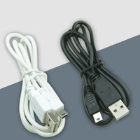 Wholesale Mini Usb Pin 1m - 1m Mini USB cable 5 pin V3 Data cable Cord for speaker elder people mobile MP3 MP4 GPS navigator digital cameras DVD DHL FREE USZ076
