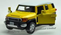 modelo de juguete toyota al por mayor-1:32 escala de aleación Diecast modelo de coche para el Toyota FJ CRUISER colección modelo Pull Back lujo SUV coche juguetes con SoundLight