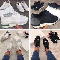 kadınlar için konforlu yeni ayakkabılar toptan satış-Adı Marka Orijinal Kutusu Ayakkabı Adam Rahat Yarış Koşucu Ayakkabı Kadın Rahat sivri Burun Düşük Kesim Yeni Renk Örgü Eğitmen Ayakkabı Boyutu 35-46