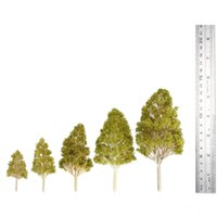 Wholesale Architectural Wedding - Wholesale- Railroad Layout Garden Landscape Scenery Doll Wedding Diorama Miniatures 5 Pcs Plastic Model Trees Architectural Model Kids Toys