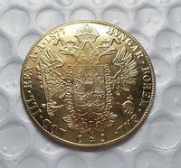 Wholesale gold coins china - 1877 Austria 4 Ducat Gold Coin COPY