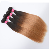 Straight Human Hair Ombre Brazilian Hair Armadura Bundles Extensiones Remy Two Tone Hair Bundles