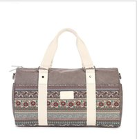Wholesale Nice Travel Bags - Canvas Travelling Bags Unisex Handbags with Nice Pattern New Arrival Fashion Simply Portable Bag Wholesale Price