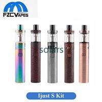 Wholesale E Cigarette Atomizer Refills - Authentic Eleaf Ismoka Ijust S Kit New Colors 3000mah E Cigarette Vape With 4ml Top Refilling Sub Ohm Atomizer New Color