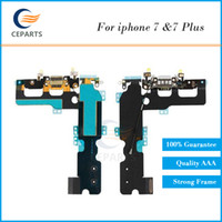 Wholesale Antenna Cables Connectors - USB Charger Port for iPhone 7 7 Plus Dock Connector Charging Port Flex Cable Ribbon Replacement 100% New with Vibrator & Antenna
