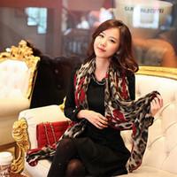 Wholesale Man Steal - Wholesale- 1 pcs Fashion Style Leopard Stylish Long Soft Silk Chiffon Scarf Wrap Stole Shawl Scarves For Ladies Hot sale