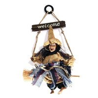Wholesale Retro Bar Accessories - Halloween Witches Broom Pendant Pendant Bar Retro Horror Haunted House Props KTV Dance Accessories Tabletop Wholesale