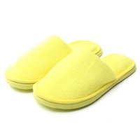 Wholesale Home Buttom - Wholesale-Women Pantufas Plush Candy Solid Color Slippers Warm Indoor Slippers Home Shoes Floor Slippers Soft Buttom Shoes For Confinement