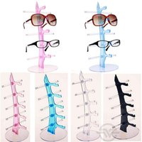 Wholesale Sunglass Holder Rack - Fashion Acrylic Sunglass Showing Rack Shelf Eyeglasses Display Stand Jewelry Holder For 5 Pairs Glasses Display