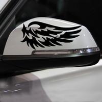 acessórios para espelhos retrovisores venda por atacado-1 par de Automóveis Motocicletas Acessórios Externos Adesivos de Carro 15 cm * 7 cm Espelho Retrovisor Do Carro Adesivos Espelhos Retrovisor Do Carro Espelhos