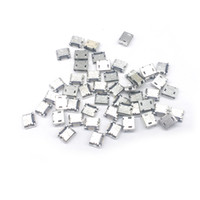 Wholesale 1000 Pieces total Micro USB Pin type B Flat DIP jack tail sockect Micro Usb Connector Port Sockect For Samsung Lenovo Huawei ZTE HTC ect