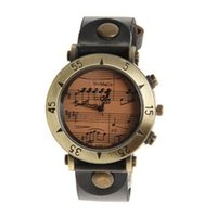 Wholesale Womage Quartz - mujer reloj womage brand music wrist watch fashion women's watches leather ladies watch women watches clock saat montre femme reloj mujer