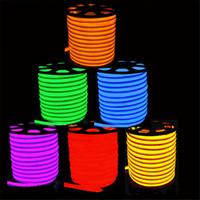 néon lumières latérales achat en gros de-Les bandes nouvellement lumineuses à LED imperméabilisent la bande SMD2835 120 leds IP65 flexible à leds rougeoyante haute 8 couleurs au néon