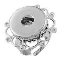 18 mm ayarlanabilir halka toptan satış-18mm Açılış Zencefil Snap Düğmesi Takı Toptan 10 ADET / Min Sipariş Ile Moda Noosa Yüzük Ayarlanabilir Boyutu Snap Düğmesi Yüzükler