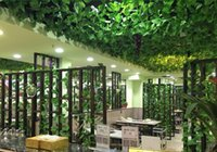 200cm Länge Künstliche Seide Plastic Simulation Klettern Reben Green Leaf Ivy Rattan für Home Decor Bar Restaurant Dekoration