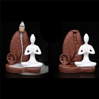 Retro Backflow Fumo Handmade Art Pottery Incenso Bruciatore Sandalo Handmade Censer Holder Home Decorazione Backflow coni di incenso