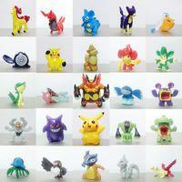 Wholesale Mini Action Figures - 100pcs lot Poke Figures 3-5CM Poke Monster PVC Action Figures Middle Size Pikachu Charizard Eevee Bulbasaur Suicune PVC Mini Figure Toys