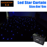 Wholesale vision sounds - High Quality 6M*6M Fireproof LED Star Cloth LED Vision Cloth LED Curtain Cloth Background Stage Light, 90V-240V 45 degree Viewing Angle