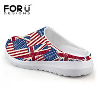 Wholesale Applique Flags Outdoors - Wholesale-Casual Unisex Sandals Men Summer Shoes Breathable UK USA Flag Beach Sandals Mesh Lighted Shoes Outdoor Slip-on Women Slippers