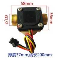 Wholesale Hot Water Heaters Wholesale - Wholesale- Hot !!!! G1 2 0.5-25L min water heater flow meter sensor