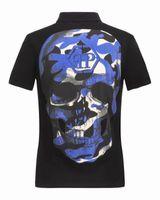 Wholesale Men Poloshirt Long Sleeve - Original German Brand PP t shirts for men Fashion Short Sleeve 100% Cotton poloshirt shirt Skull hip pop Designer mens t shirts #2788