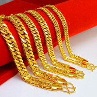 AAAAA Cuban Link Chain 18 K Gold Plated Necklace 8 MM Gold Chain para homens de alta qualidade Hip Hop Bling Jewelry