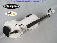 Wholesale White colors electric acoustic violin