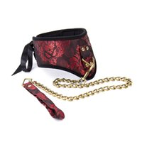 Wholesale Woman Collar Sex - Bondage Gear BDSM Dog Sex Collar Bitch Slave Neck Collar With Leash for Women Hot Sell Sex Products GN-SC001