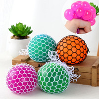 Wholesale Geek Gadgets - New fidget Vent Squish Grape Ball With Rope Mesh Anti Stress Autism Mood Squeeze Relief Healthy Toy Funny Geek Gadget Gifts