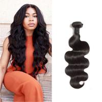 Wholesale Malaysian Body Wave 2pcs - 7A Indian Virgin Hair Body Wave 2pcs lot Raw Indian Hair Bundles 100% Human Hair Weaving Virgin Indian Hair Extensions Body Wave