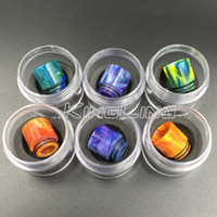 Wholesale Resin Babies - Epoxy Resin drip tip Colorful Wide Bore drip tips 810 Mouthpiece for Smok TFV8 Tfv8 Big Baby Tfv12 Tank with Retail Package