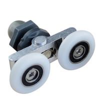 Wholesale roller door wholesales online - Swing double wheel shower room pulley glass sliding door roller hanging wheel household hardware part furniture